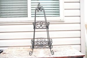 Two-Level Plant Stand - Iron