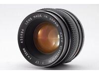 Chinon 55mm f/1.7 Manual lens