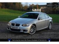 (58) BMW 3 SERIES E92 325D 3.0L M SPORT COUPE+PRO NAV+HEATED BLACK LEATHER+BT+++