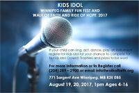 Calling upon all talented youngsters we welcome kids ages (4-16)
