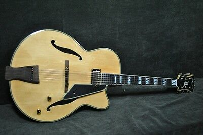 "PEERLESS  MONARCH 17"" JAZZ electric ARCHTOP  BLONDE w set routed Humbucker"
