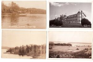 Collection 80 cartes postales photos noir/blanc des Laurentides