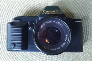 Two Classic SLR Cameras - Canon/Pentax $80-$120 each