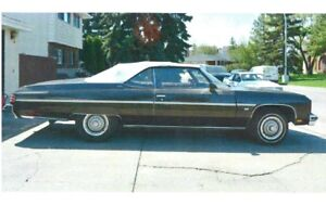 1975 Chev Caprice Convertible, 454 Auto, Garage Queen