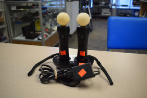 Playstation Move Controller's w/ Charging Dock