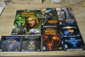 Lot of StarCraft & Warcraft games & strategy guide see pictures