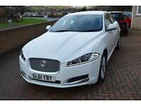2012 Jaguar XF 3.0TD V6 ( 237bhp ) auto Luxury White 1 Private Owner.Low miles.
