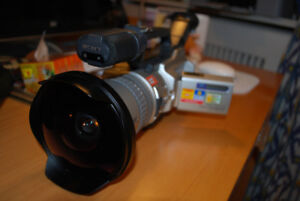 Sony VX2000 3CCD Camcorder with Fisheye