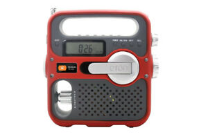 ETON Solarlink FR360 Hand Turbine Radio - RED - Brand new