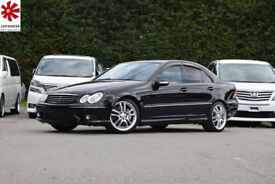 2005 (05) MERCEDES-BENZ C55AMG 5.4 C Class Automatic Black FSH Low Mileage