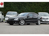 2005 (05) MERCEDES-BENZ C55AMG 5.4 C Class Automatic Black FSH Low Mileage
