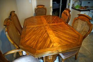 Solid Wood Dining Room Table & Hutch