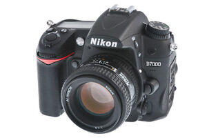 Nikon D7000 + 50mm lens with extras