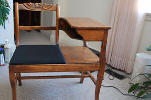 antique telephone chair/table