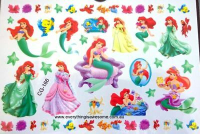 Princess Ariel Little Mermaid Kids Boy Girls Temporary Tattoos Stickers Body - Little Mermaid Temporary Tattoos