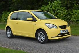 SEAT MII 1.0 SE AUTO 3DR HB YELLOW 2013 FDSH SAT NAV BLUETOOTH ALLOYS TAX £20