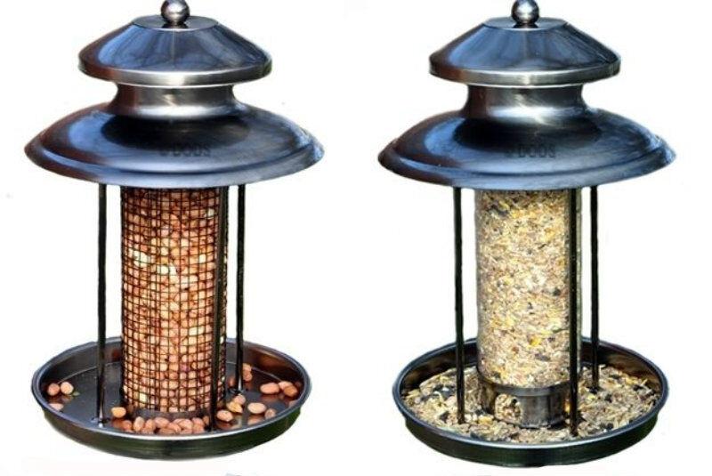 Deluxe Steel Lantern Shaped Wild Birds Seed Or Nut Feeder