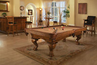 4x8 Legacy pool table,1 in slate,solid mahogany!install included