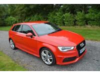 Audi A3 1.6TDI Sportback S Line 2013 63 DIESEL LEATHER XENONS PARK AIDS TAX £0