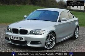 BMW 1 SERIES 125I M SPORT - COUPE RED H-LEATHER, Silver, Auto, Petrol, 2008