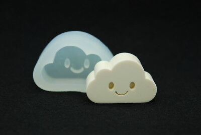 2D Smile Cloud, Silicone Mold Mould Chocolate Polymer Clay Soap Candle