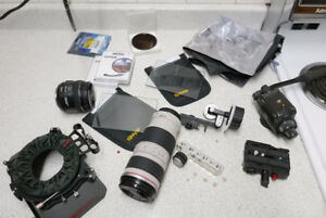 Selling everything! Lenses, filters, matte box, video head MORE!