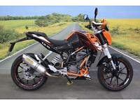 KTM Duke 125 **Crash Bars, Arrow Exhaust, Braided Hoses**