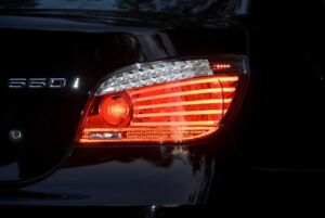 """OEM BMW E60 LCI Taillights with plug and play adapter!"""