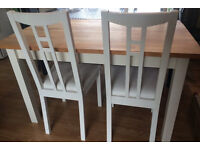 Habitat Heavy wooden dining table and 4 chairs