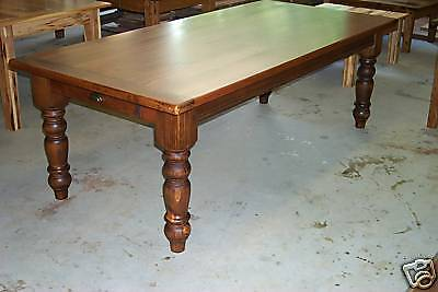 Reclaimed Heart Pine - Handcrafted Antique Heart Pine Harvest/Dining Table Farmhouse Reclaimed Salvaged