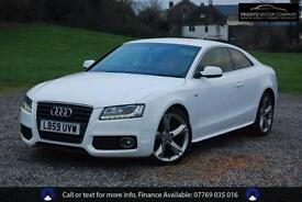 2010 AUDI A5 2.0 TDI S LINE, COUPE, WHITE, MANUAL, DIESEL, BLACK HEATED LEATHER