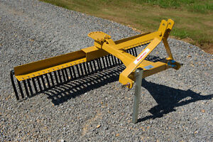 New 7ft Landscaping/Finger/Rock 3pt hitch Rake