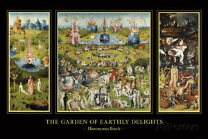 The Garden Of Earthly Delights, C.1504 Art Print By Hieronymus Bosch   36x24