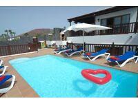 Fab. Villa VL22 in Lanzarote Playa Blanca 4 Beds Sleeps 10 Panoramic Sea Views Hot Tub Play Area