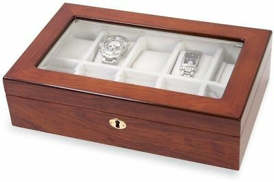 Rosewood w/ Window Top 10 Watch Case ()