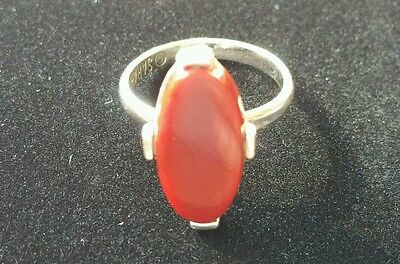 Sarah Coventry Continental VTG 1977 Ring Adj Faux Carnelian Red