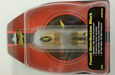 Stinger 2 gang agu fused block spd8120 4 awg input 8 awg outputs gold
