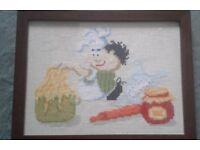 hand made cross stich wall art - framed £ 20-40 each. £200 for a set