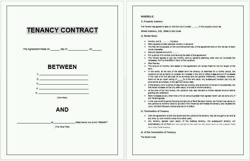 letter of application for tenancy