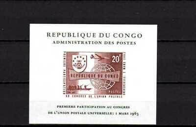 Belgisch Congo Belge - Rep. Congo n° LX476 MH UPU  Luxary Sheet in brown 35.00Eu