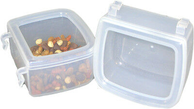 Pet Carrier, kennel, crate, cage Food Water Dish - Hook On - set of 2 Small Cups