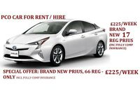 £225 PER WEEK BRAND NEW 66 REG PRIUS(INCL FULLY COMP INSURANCE) - PCO CARS FOR RENT/HIRE, UBER READY