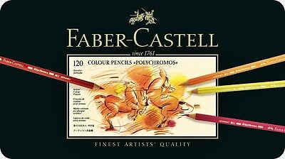 Coloured pencils Faber-Castell POLYCHROMOS 120 110011 IN METAL BOX for sale  Shipping to Ireland