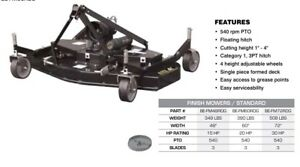 3 Point Hitch Rear Finish Mowers 4,5,6 ft