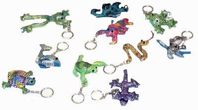 72 Sand Animal Keychains 7cm in Wholesale Display Box.Bulk Buy Pocket Money Toys (Buy Keychains In Bulk)