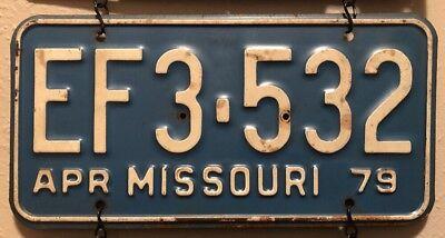 1979 APR Missouri License Plate