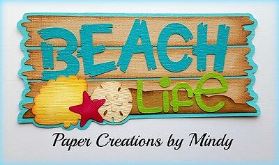 Craftecafe Mindy Beach Life Summer  premade paper piecing scrapbook Title