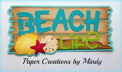 Craftecafe Mindy Beach Life Summer  premade paper piece scrapbook title diecut