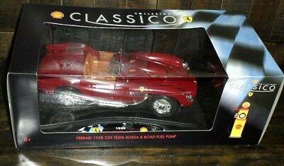 Classico 1958 Ferrari 250 Testa Rossa & Road Fuel Pump 1:18 Scale Unopened MIB
