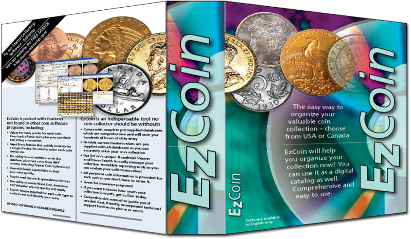 Coin Collecting Software: EzCoin CANADA 2020+Images, Prices for All Coins & Sets